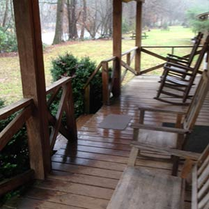 outside porch of cabin rental
